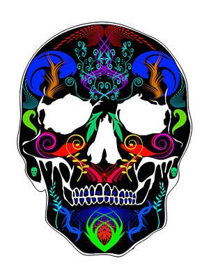 Bright Skull Poster by Mauro Celotti