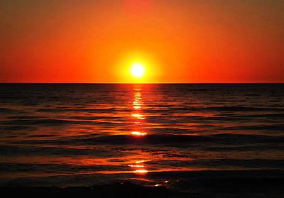 Bright Skies - Sunset Art By Sharon Cummings Poster by Sharon Cummings