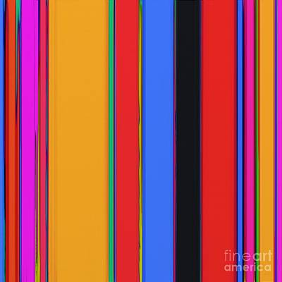 Bright Stripes Poster by Keith Mills