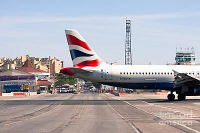 British Airways Airbus Landing At Gibraltar Poster by Jan Mika