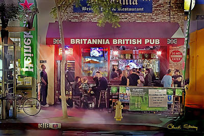 British Pub Poster by Chuck Staley