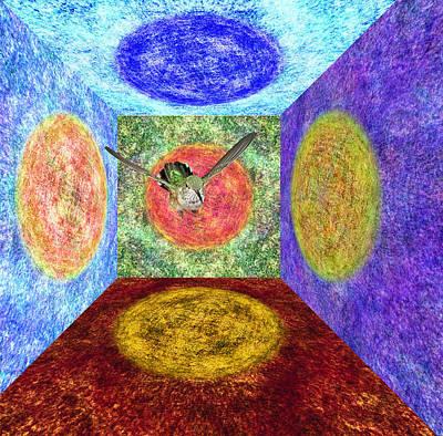 Broadtail Hummingbird In A Nexus Of Five Portals Poster by Gregory Scott