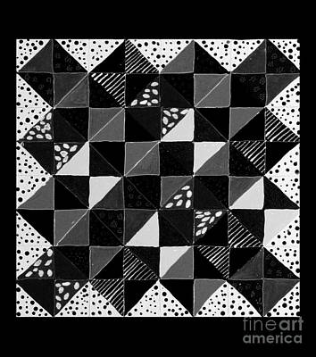 Broken Dishes - Quilt Pattern - Painting 4 Poster by Barbara Griffin