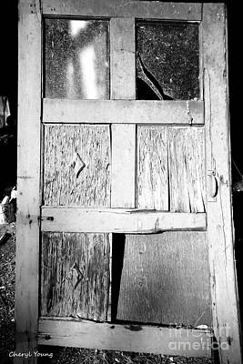 Broken Door Poster by Cheryl Young
