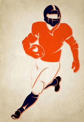Broncos Shadow Player Poster by Joe Hamilton