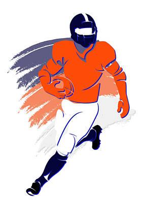 Broncos Shadow Player2 Poster by Joe Hamilton