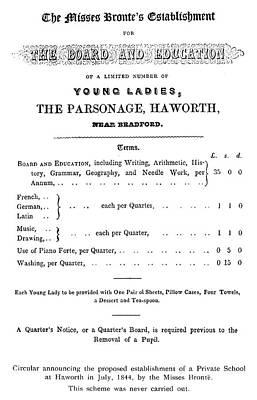 Bront� School, 1844 Poster by Granger