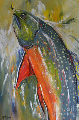 Brook Trout Poster by Cher Devereaux