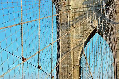 Brooklyn Bridge Cables Poster by Paul Van Baardwijk