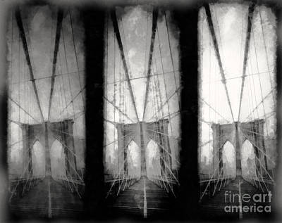 Brooklyn Bridge Nyc Poster by Edward Fielding