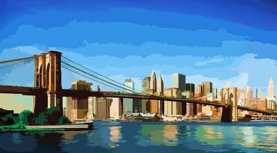 Brooklyn Bridge  Poster by P Dwain Morris