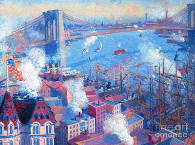 Brooklyn Bridge Poster by Pg Reproductions