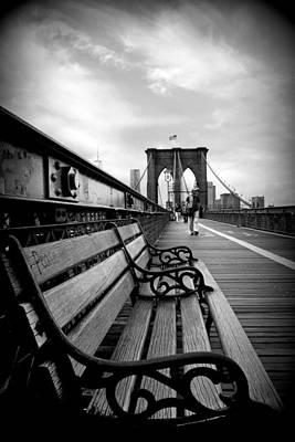 Brooklyn Bridge Promenade Poster by Jessica Jenney