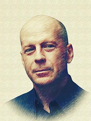 Bruce Willis Poster by Marina Likholat