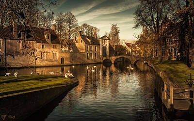 Bruges Canal Poster by Chris Fletcher