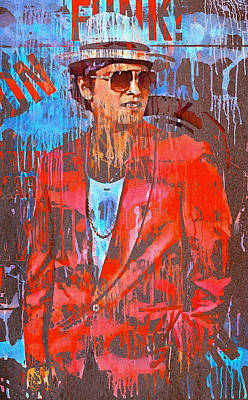 Bruno Mars - Uptown Funk 7 Poster by Yury Malkov
