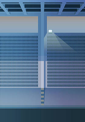 Brutalist Car Park Poster by Peter Cassidy