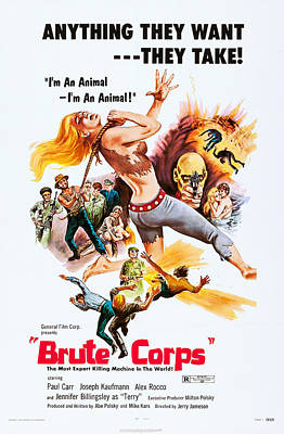 Brute Corps, U.s. Poster, 1972 Poster by Everett
