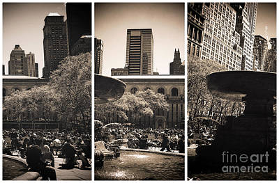 Bryant Park Panels Poster by John Rizzuto