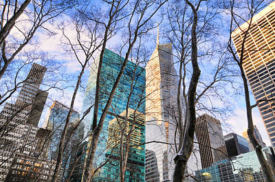 Bryant Park Tree Tops Poster by Diana Angstadt