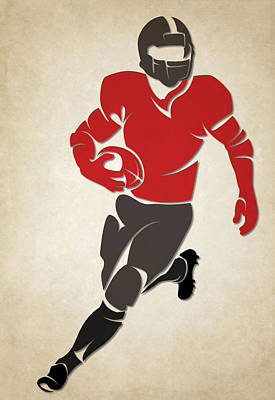 Buccaneers Shadow Player Poster by Joe Hamilton