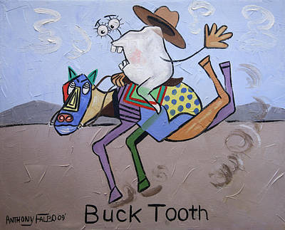 Buck Tooth Poster by Anthony Falbo