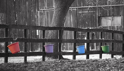 Buckets Poster by Tracy Winter