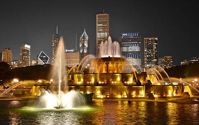 Buckingham Fountain Poster by Frozen in Time Fine Art Photography