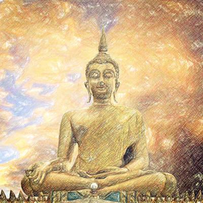 Buddha Poster by Taylan Soyturk