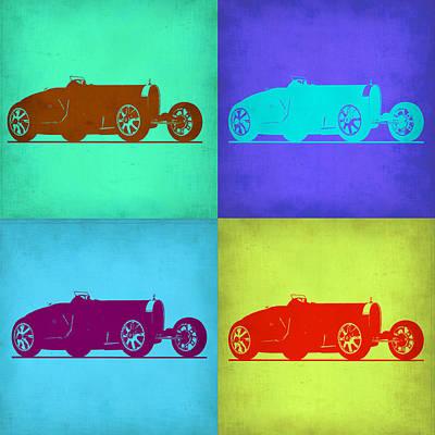 Bugatti Type 35 R Pop Art 1 Poster by Naxart Studio