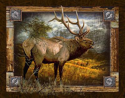 Bugling Elk Poster by JQ Licensing