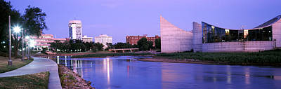 Buildings At The Waterfront, Arkansas Poster by Panoramic Images