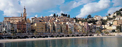 Buildings At The Waterfront, Menton Poster by Panoramic Images