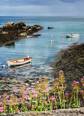 Bull Bay Boats Poster by Adrian Evans