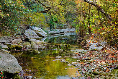 Bull Creek In The Fall Poster by Mark Weaver