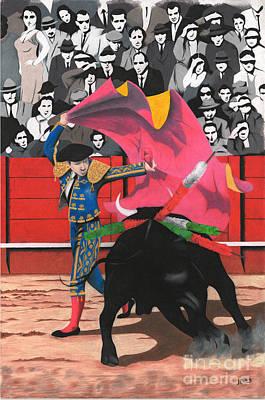 Bull Fighter  Poster by Joel Carrillo