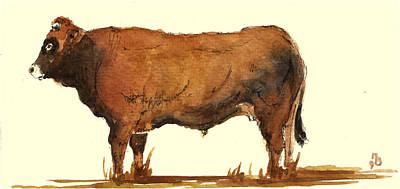 Bull Poster by Juan  Bosco