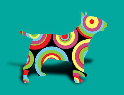 Bull Terrier Poster by Mark Ashkenazi