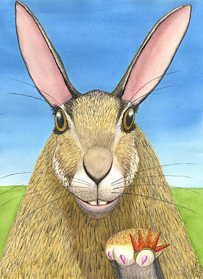 Bunny Bling Poster by Catherine G McElroy