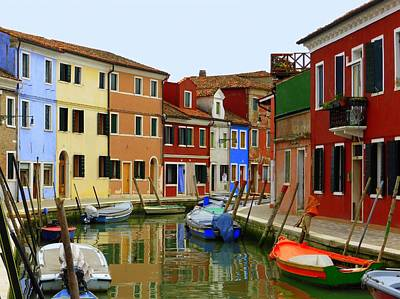 Burano Canal Poster by Bishopston Fine Art