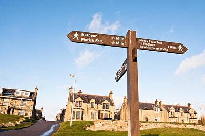 Burghead Signpost Poster by Tom Gowanlock