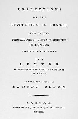 Burke Reflections, 1790 Poster by Granger
