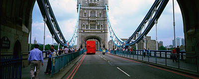 Bus On A Bridge, London Bridge, London Poster by Panoramic Images
