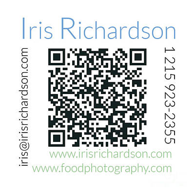 Business Card Back Poster by Iris Richardson