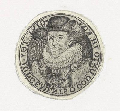 Bust Portrait Of James I, Simon Van De Passe Poster by Simon Van De Passe