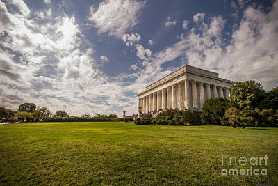 Busy Morning At Lincoln Memorial Poster by Darcy Michaelchuk