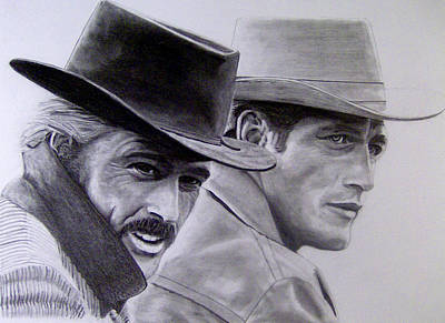 Butch Cassidy And The Sundance Kid I Poster by Joel Smith