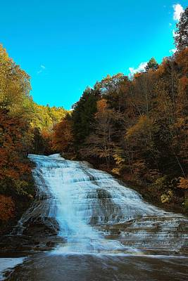 Buttermilk Falls Ithaca New York Poster by Paul Ge