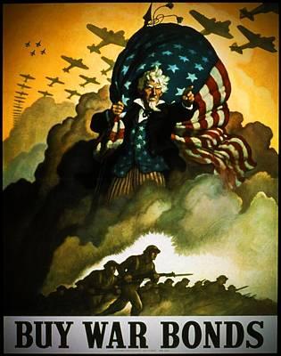 Buy War Bonds Poster by Robert Geary