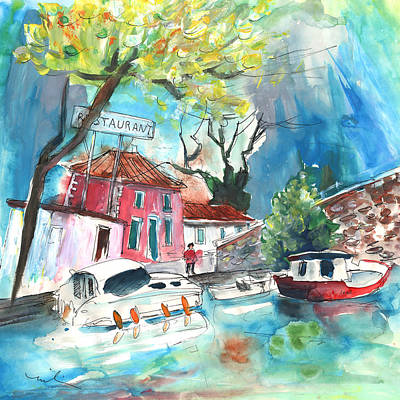 By A French Canal 01 Poster by Miki De Goodaboom